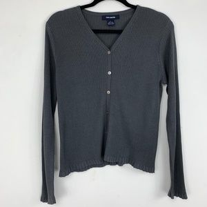 The Limited charcoal grey scalloped cardigan